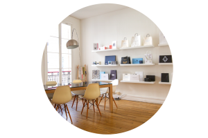 Showroom rond flouté